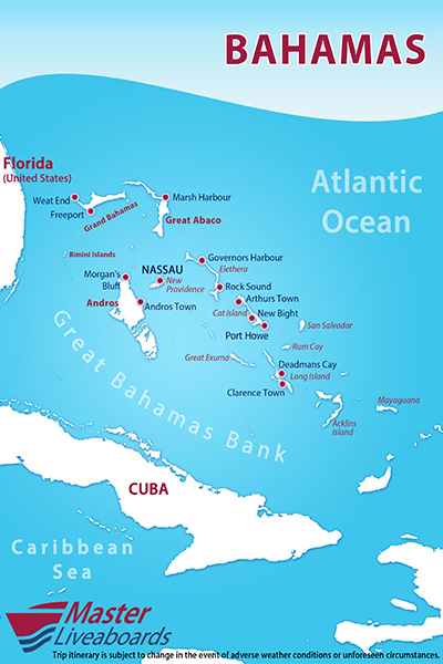 Master Liveaboards » bahamas-map
