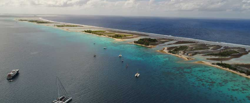 French Polynesia pass and atoll