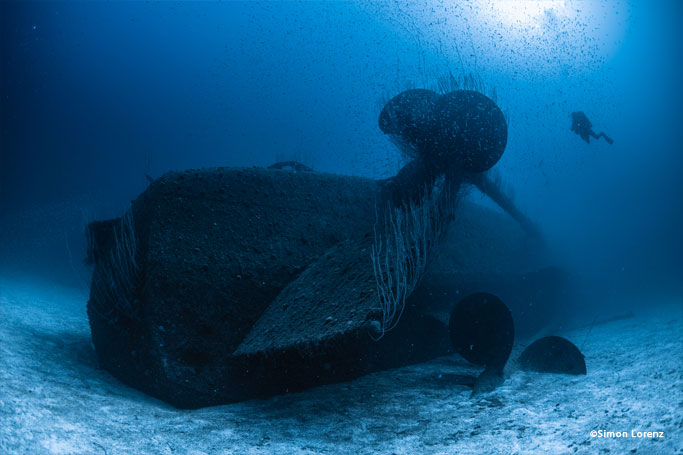 Wreck diving in Bikini Atoll